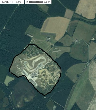 Vue aérienne de l'aménagement actuel