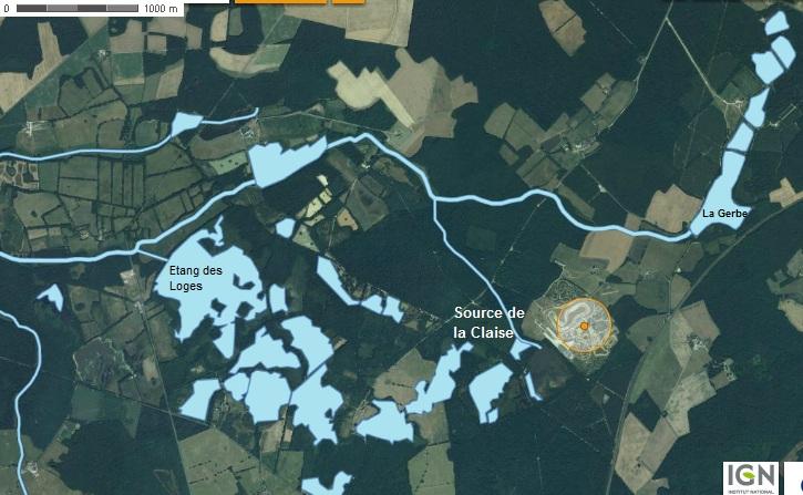 Carte du réseau hydrographique